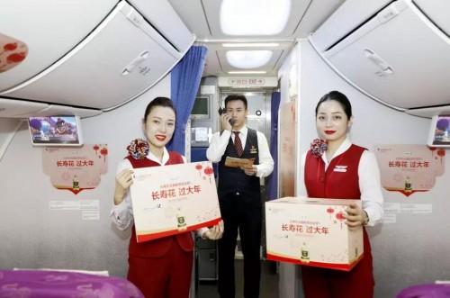 """""""长寿花 过大年""""山东航空携手长寿花食品展开空中特色主题活动"""
