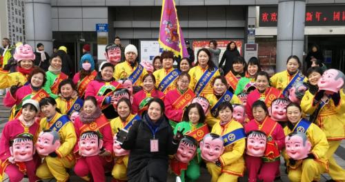 富德生命人寿扬州中支携手客户过文化特色的元宵节