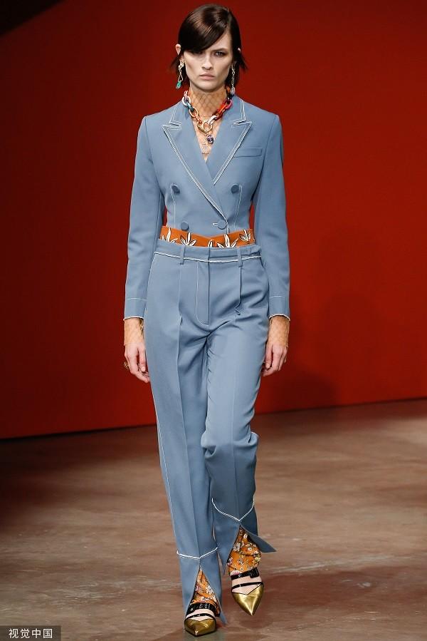 2020春夏伦敦时装周:Ports 1961 品牌秀场(图片来源 视觉中国)