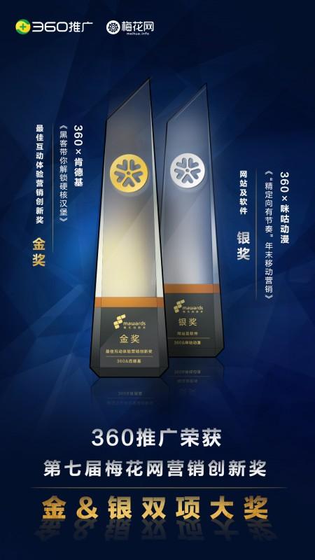 梅开双枝!360推广斩获第七届梅花创新奖两项殊荣