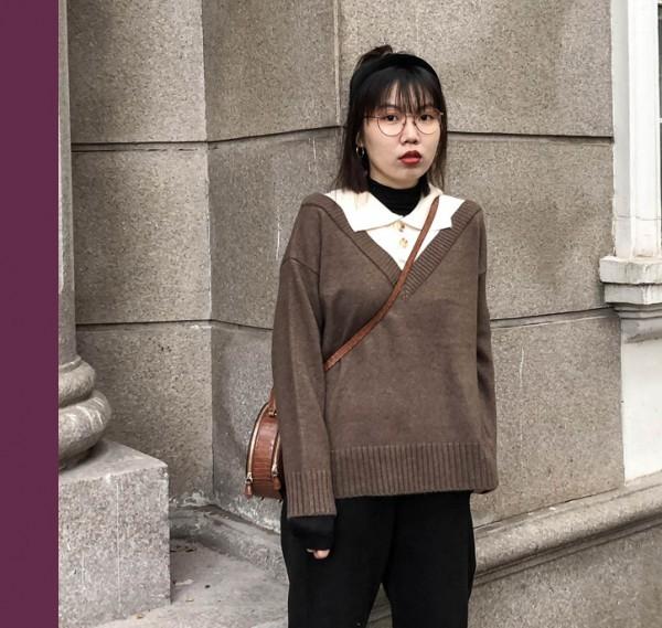 秋冬天穿的套头衫有哪些款式呢? 套头衫怎么穿比较时尚