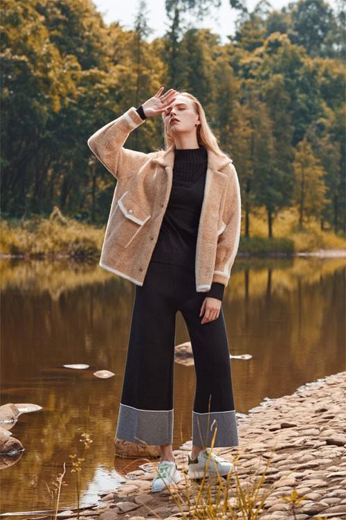 木丝语新款毛呢外套 简约时髦而不失精致感!
