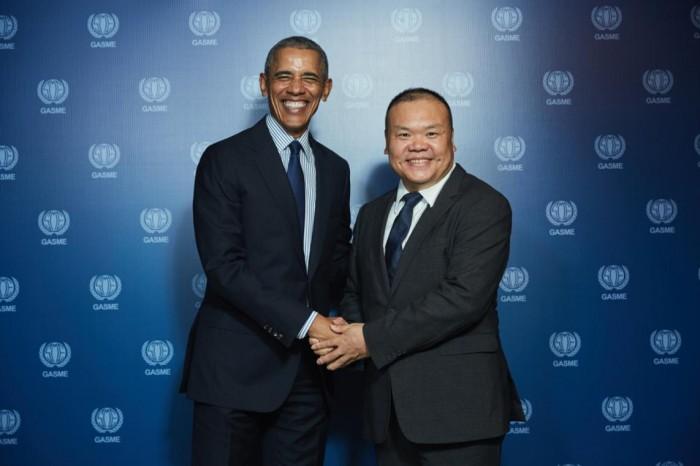 南宁龙翔学校校长周建伟受邀参加奥巴马总统可持续发展大讲坛获单独会见