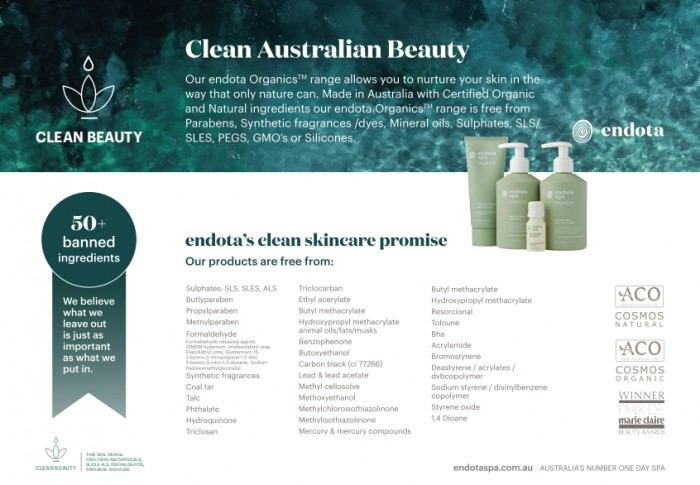 澳洲火爆护肤品牌endota spa获ACO专业级有机认证!