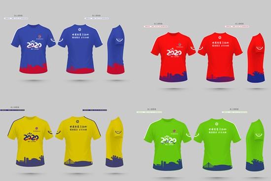 四款赛事服装设计图
