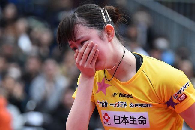 早田希娜落泪