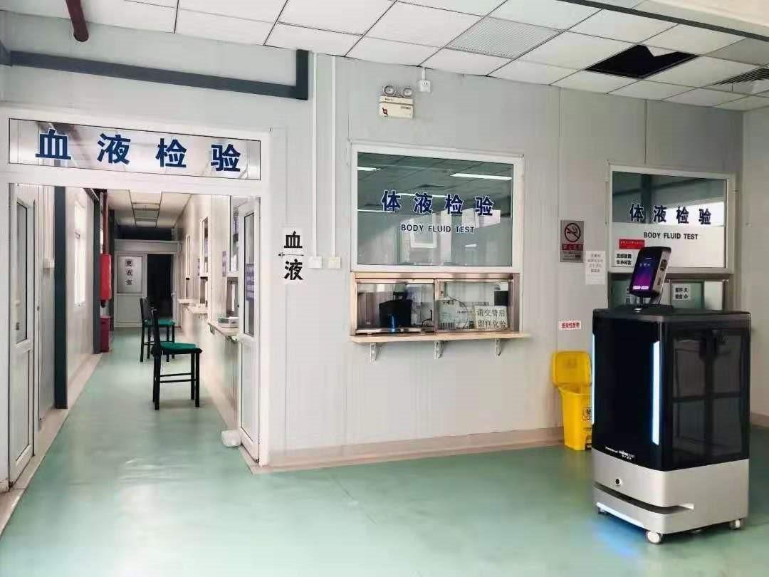 众志成城抗疫情:猎户星空最新捐赠医疗服务机器人已交付武汉火神山医院