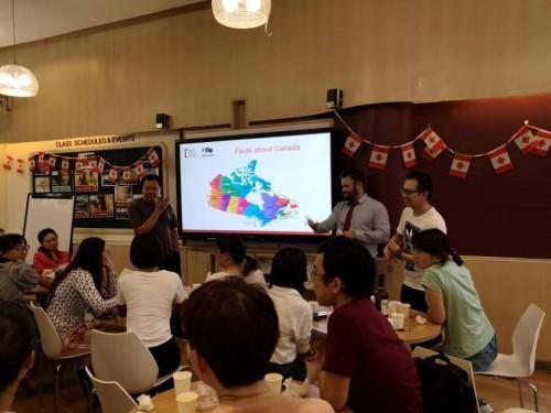 发现加拿大之旅进行中,华尔街英语上海学习中心尽享美食
