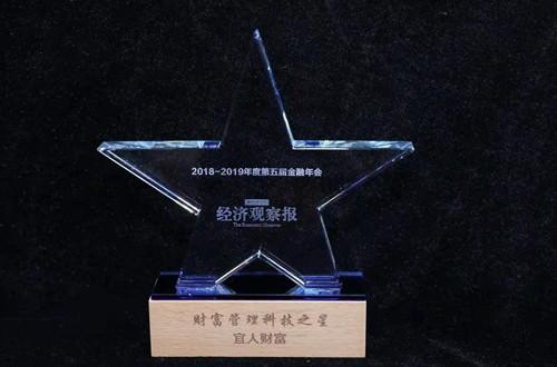 """宜人贷母公司宜人金科旗下宜人财富荣获""""金融之星"""""""