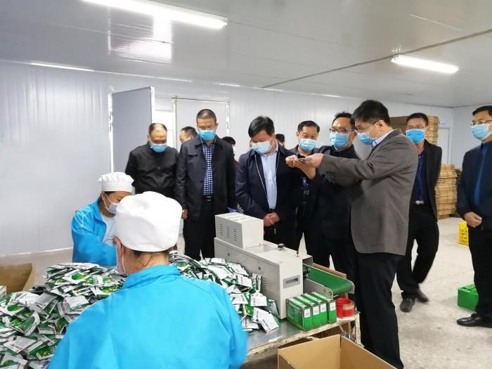 农毅部长、杨添才书记到双蚁药业检查指导疫情防控和复工复产工作