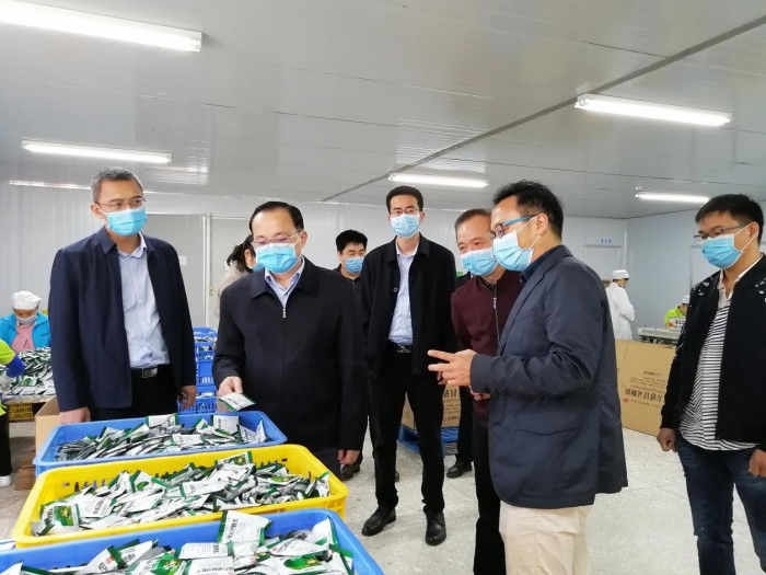 来宾市市长雷应敏到双蚁药业检查抗疫爱卫清洁行动情况