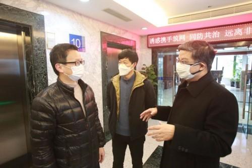 浦东新区总工会领导看望天安财险干部员工
