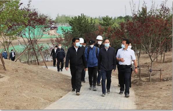 北京市副市长到访北京温榆河公园示范区,对东方园林项目进行调研