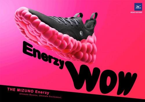 """美津浓新开发的高回弹鞋底材料""""MIZUNO ENERZY"""""""