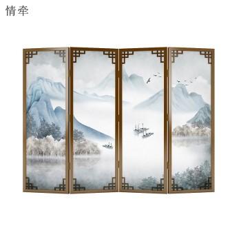 """中国画里的""""屏风""""背后藏着多少故事?情牵实木屏风有答案"""