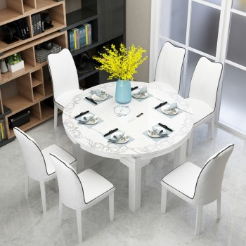 餐厅装白色餐桌怎么样?凯西图KAICITU住宅家具带你来看一下