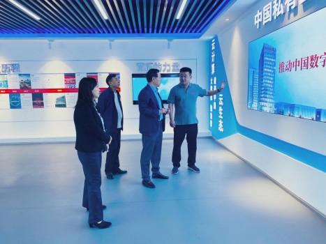 安徽省经济和信息化厅厅长牛弩韬一行调研华云数据 肯定华云数据在皖发展成果