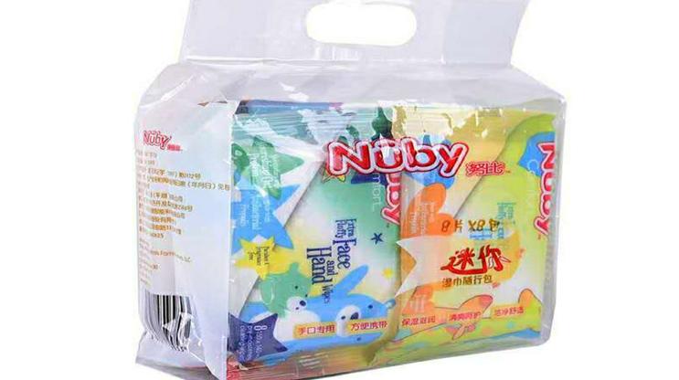 Nuby宝宝手足迷你湿纸,让健康与你
