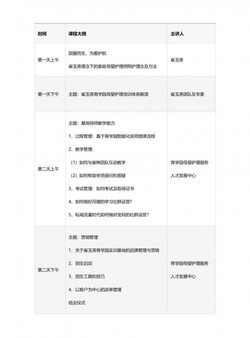 崔玉涛育学园发力家政培训,全国发展实训基地,科学赋能传统月嫂育儿嫂转型