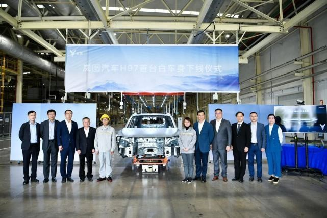 岚图汽车首款SUV白车身下线,2021年第三季度上市