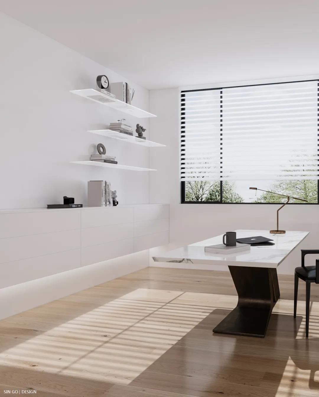 星杰国际设计倾力打造405㎡极简风别墅 光影之间 定格流年