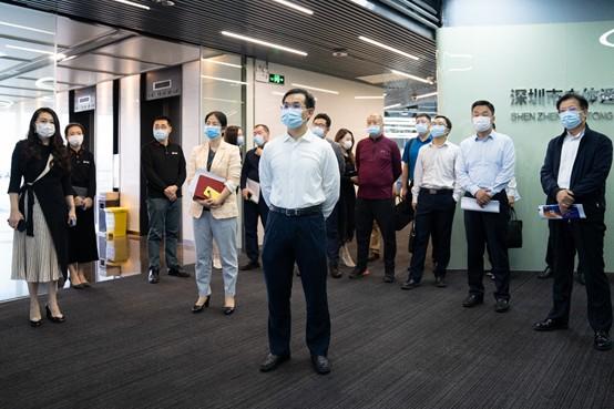 深圳市副市长聂新平率团到立体通进行三维互联网调研