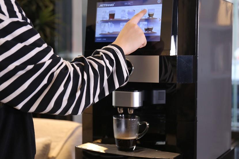办公室现磨咖啡机,自助扫码企业咖啡机