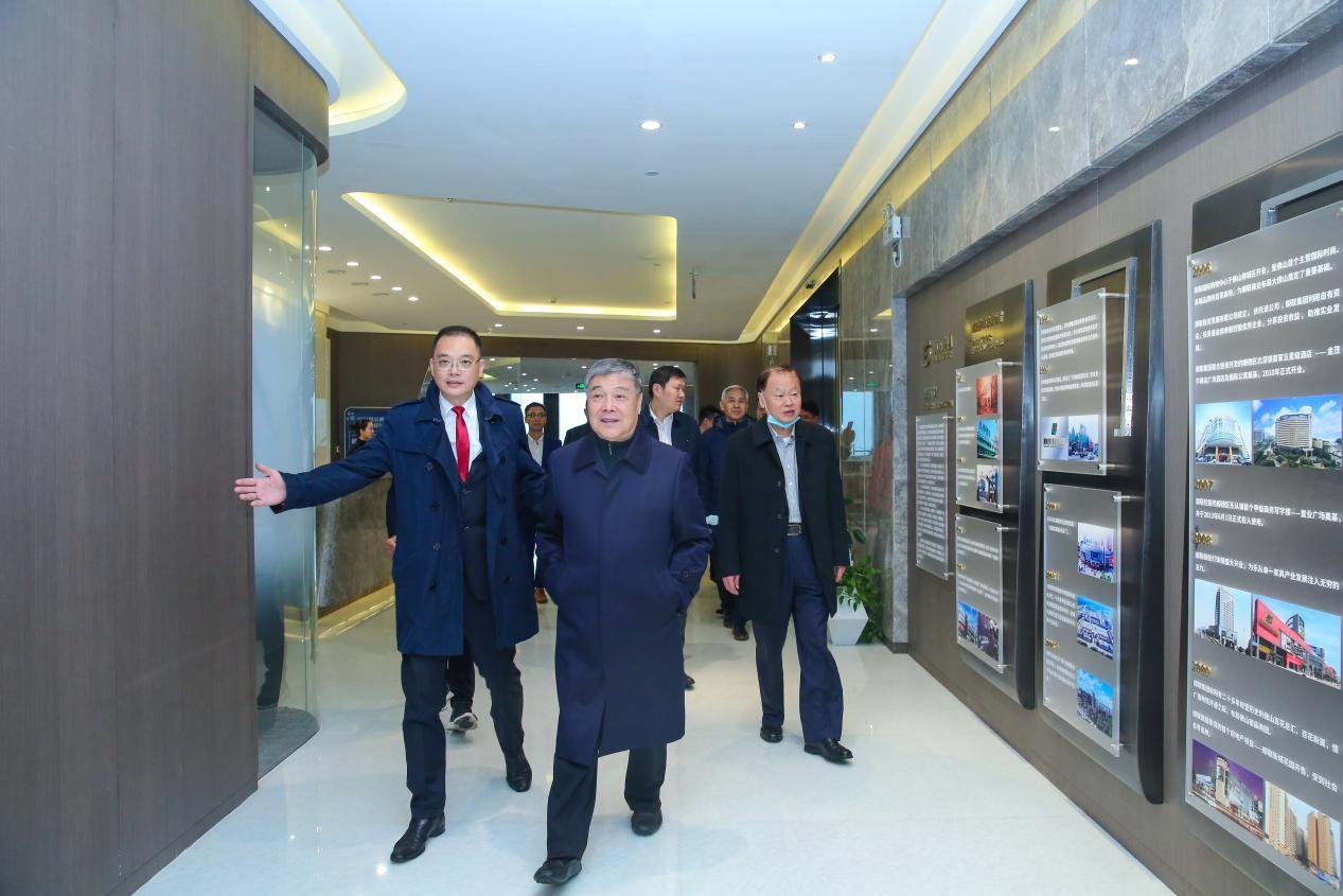 商务部原副部长张志刚、中国商业联合会会长姜明莅临顺联集团指导工作