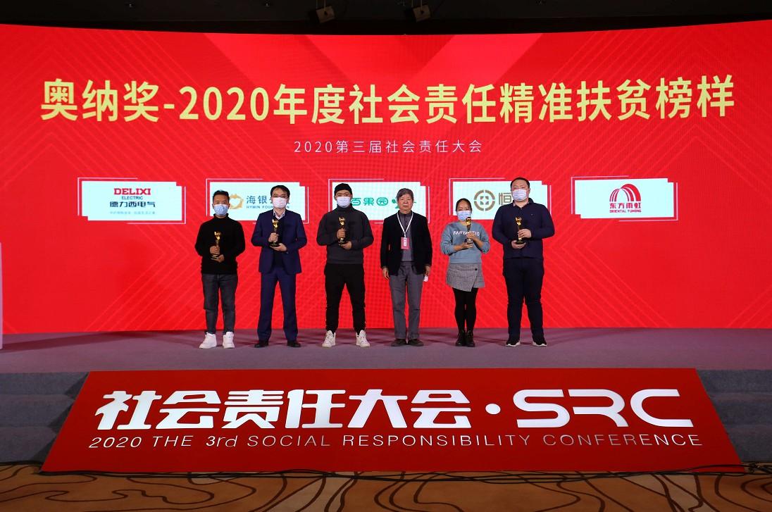 """恒昌公司荣膺""""2020年度社会责任精准扶贫榜样""""奖"""