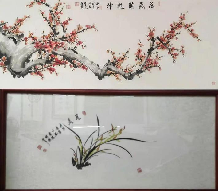 林树镇,水墨丹青画上极有造诣,用绘画传递的自己的正能量