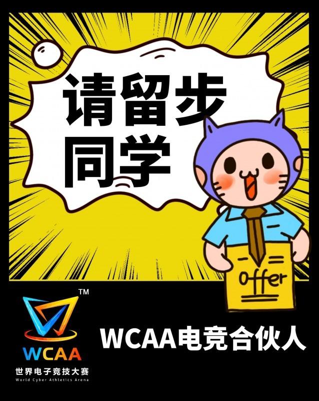 同学,你有一份#WCAA电竞合伙人#的offer