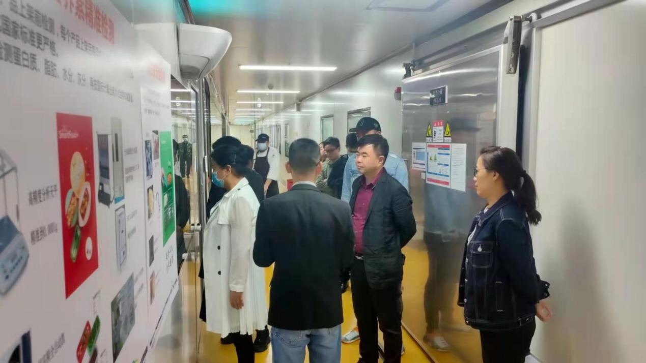 深圳阳光医院集团参观维士数字饮食中央厨房