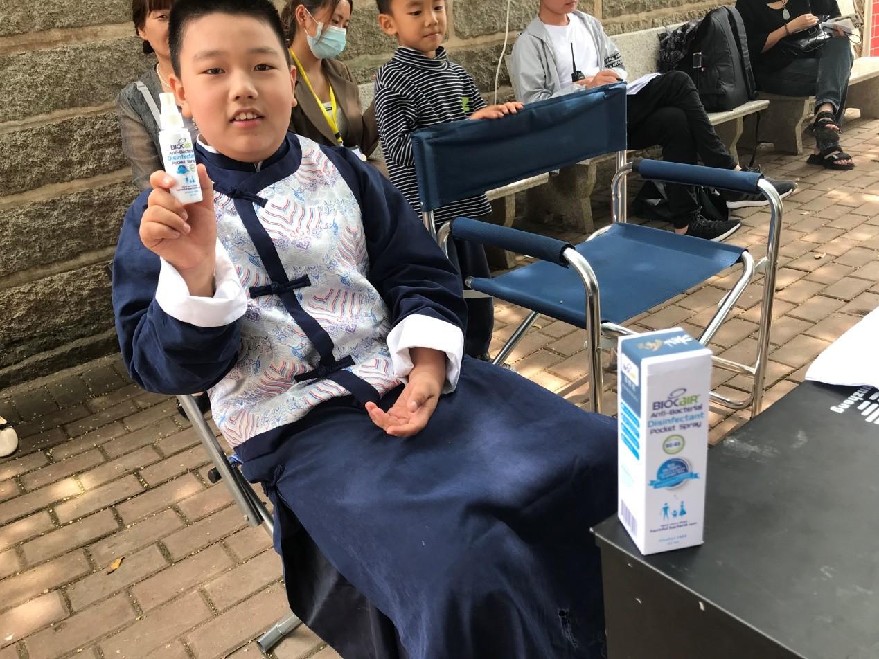 百微克消毒喷雾助力极客艺启出品的电影《民国少年代号K》顺利拍摄
