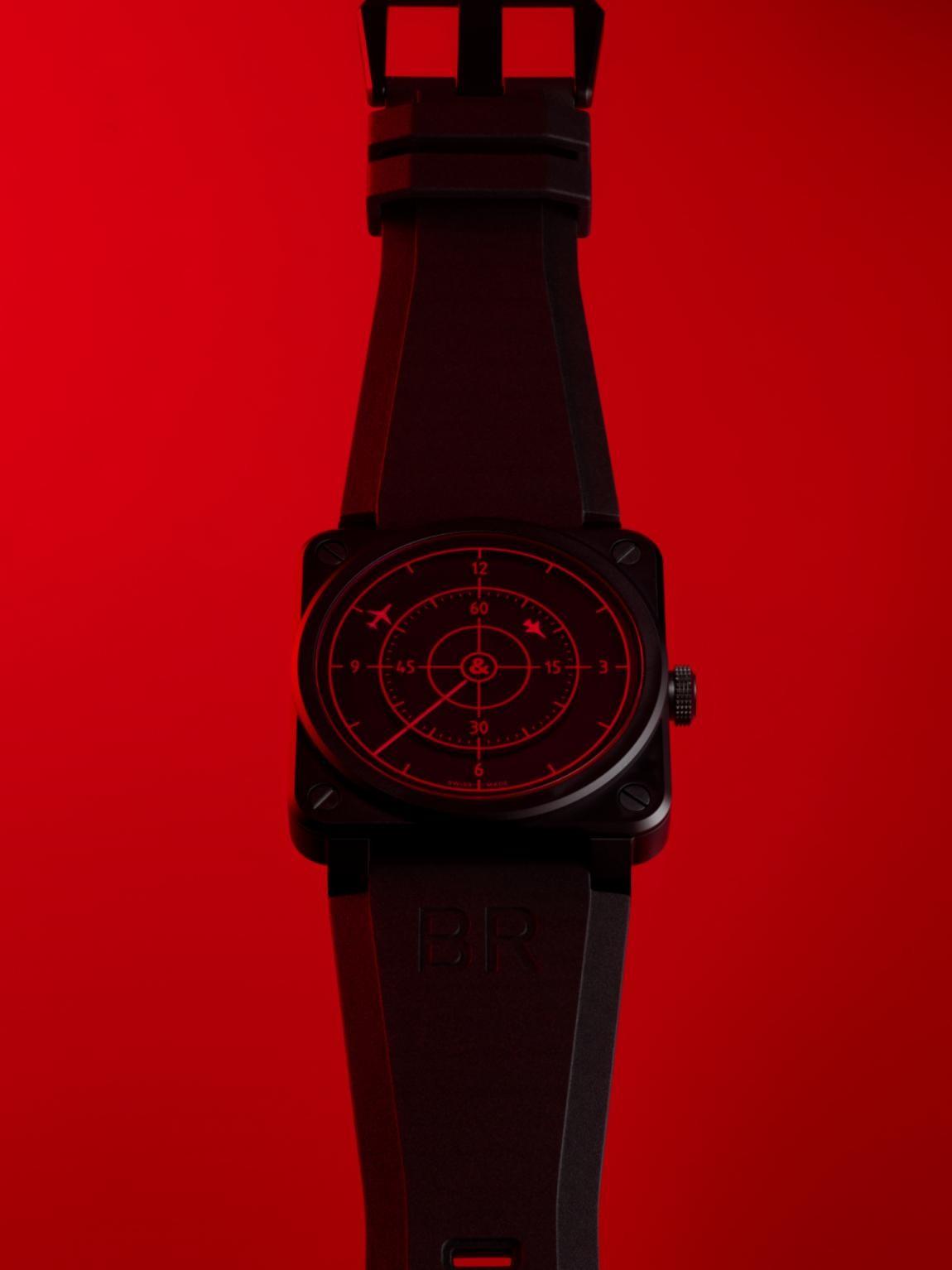 柏莱士全新发布红雷达计时腕表BR 03 RED RADAR CERAMIC