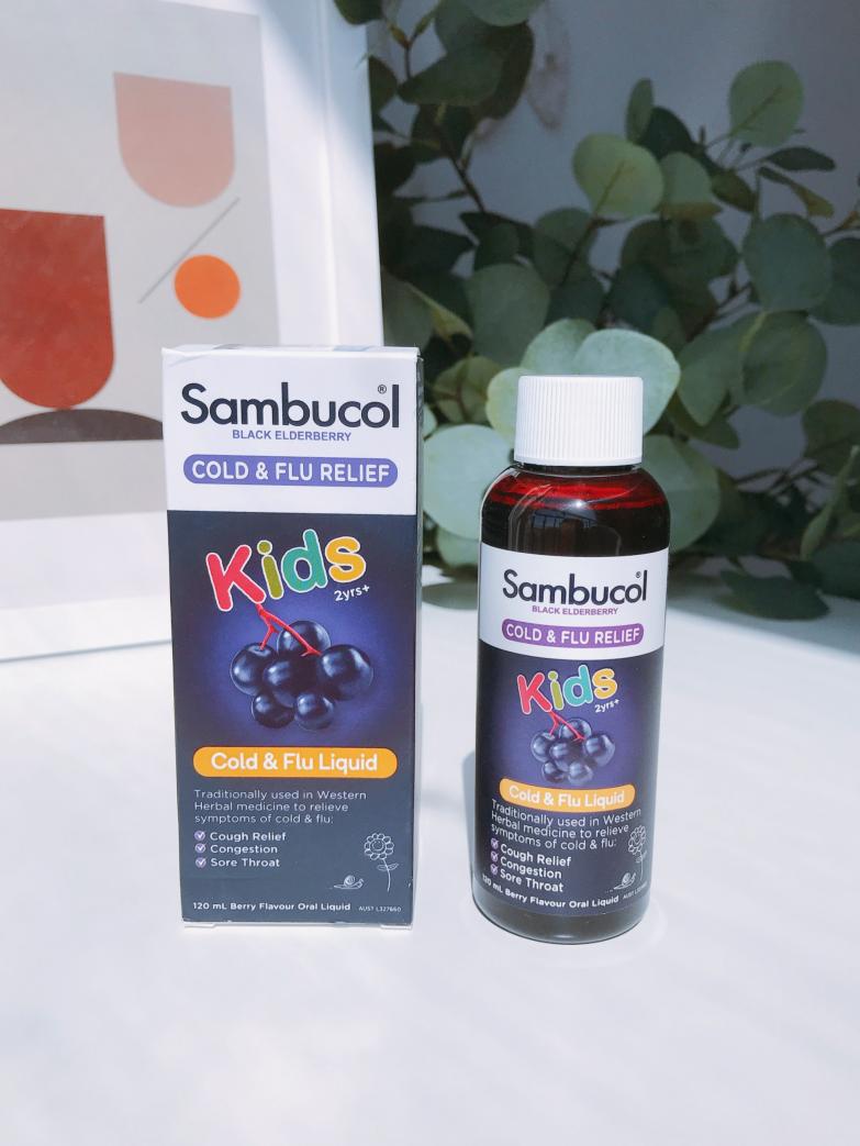 """Sambucol儿童黑接骨木糖浆,为身体加""""免"""",为健康加冕!"""