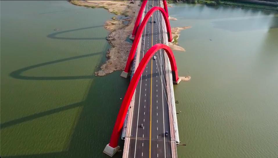 明凯捷报!抚州市中洲大桥终于正式通车!
