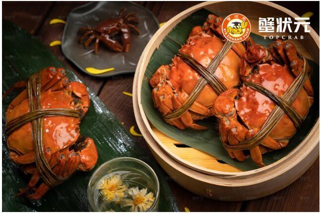 蟹状元大闸蟹:秋风吹,吹红了柿子,吹熟了蟹!