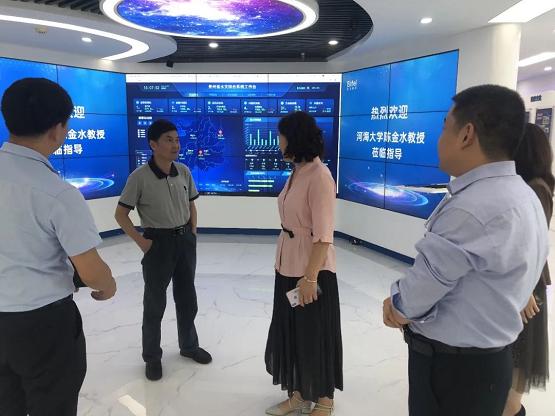 中国灌区信息化专家组组长、河海大学教授陈金水莅临艾力泰尔交流指导