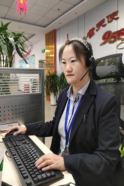 中国人保新疆分公司95518客服明星—向滢