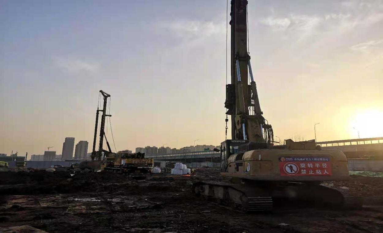 青岛地质院连续承担临沂一方·中梁和府桩基工程、基坑支护和降水工程