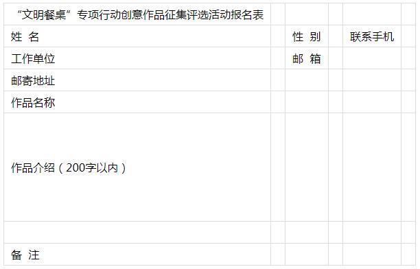 """北京市""""文明餐桌 光盘行动""""创意作品征集评选活动邀您参加"""