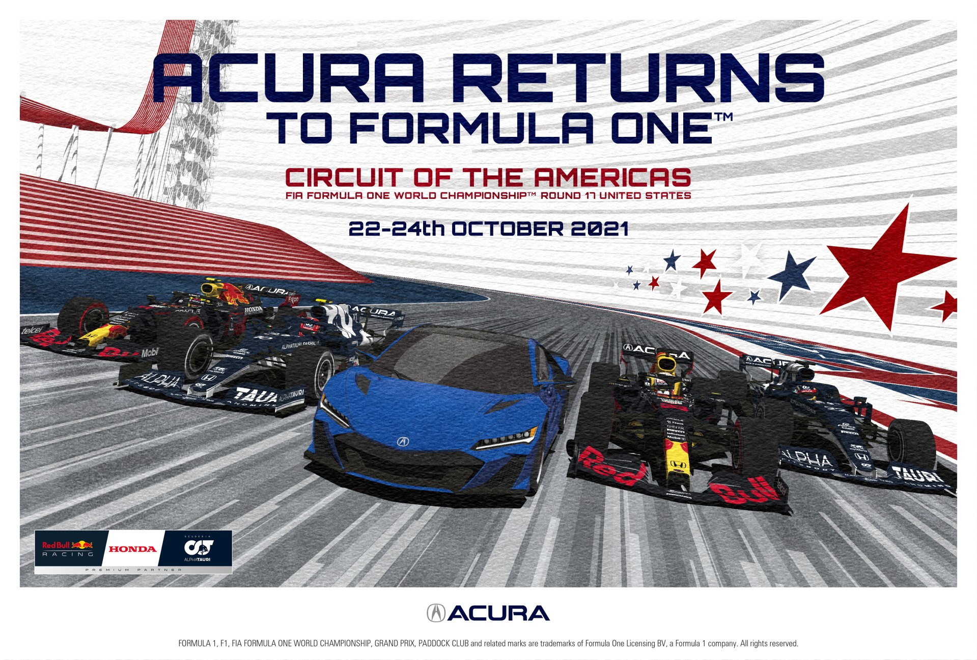 Acura重返一级方程式赛车美国大奖赛