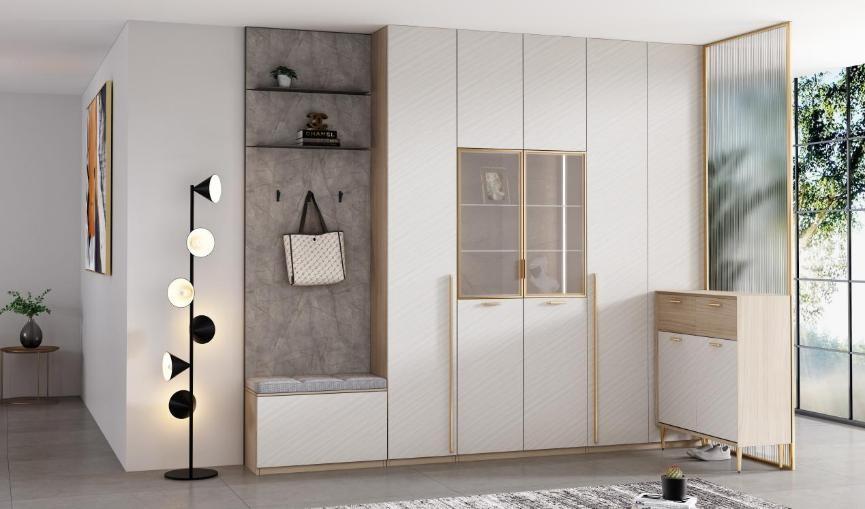 歐派全屋定制:多用途玄關柜設計 提升家的幸福感