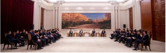 景俊海、韩俊会见赵涛带领的空商企业家吉林省投资考察团